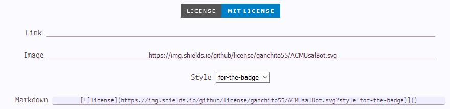 Insignia para mostrar la licencia de tu proyecto en GitHub