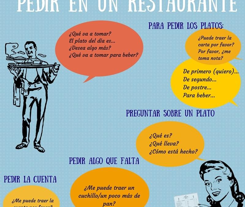 Pedir en un restaurante