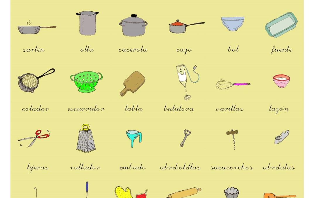 Utensilios, recipientes y medidas de cocina