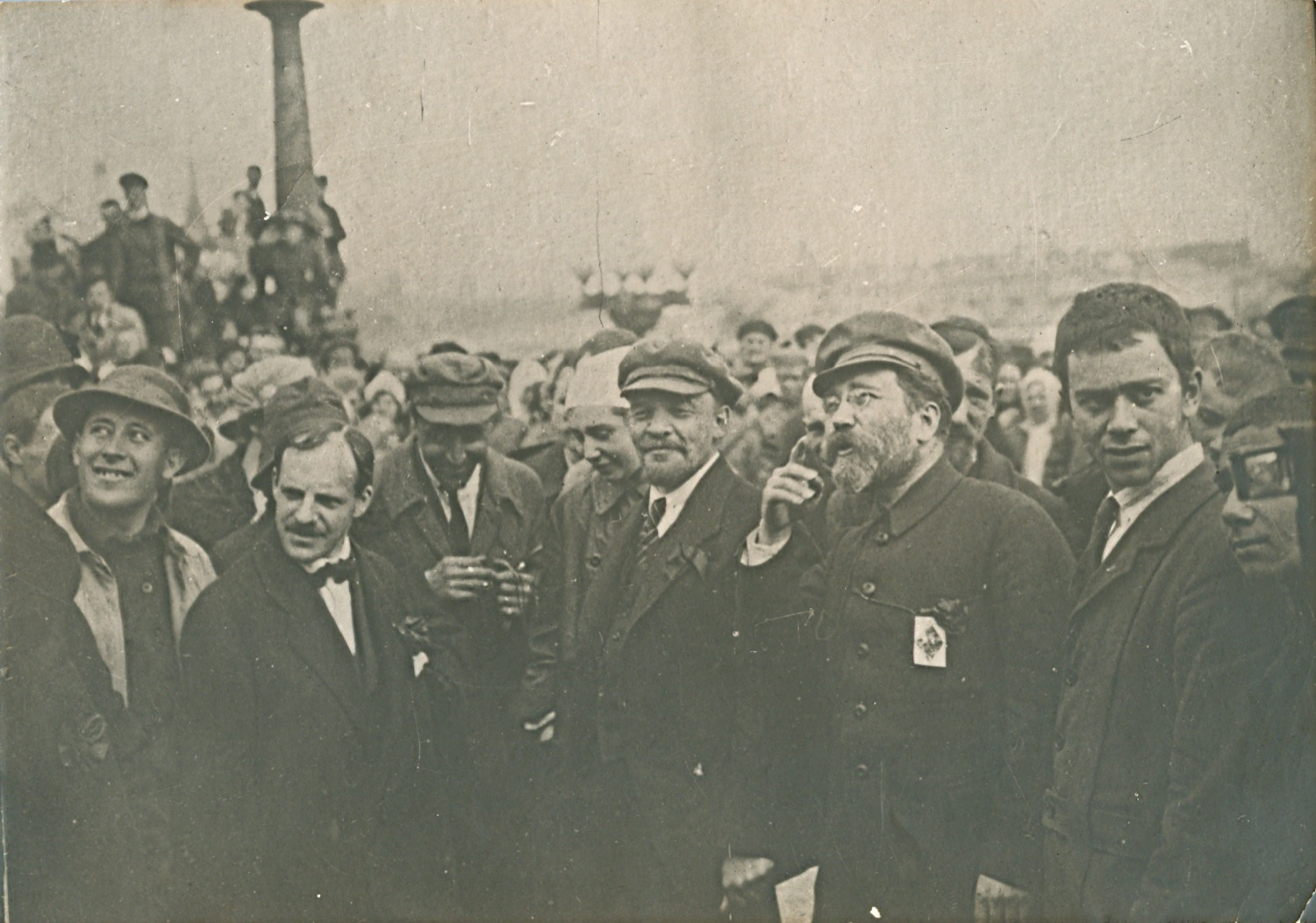 """Photo. V. I. Lenin at the laying of the monument """"Liberated Labor"""" on the Prechistenskaya embankment. RSFSR, Moscow. May 1, 1920. Photographer A. I. Savelyev"""