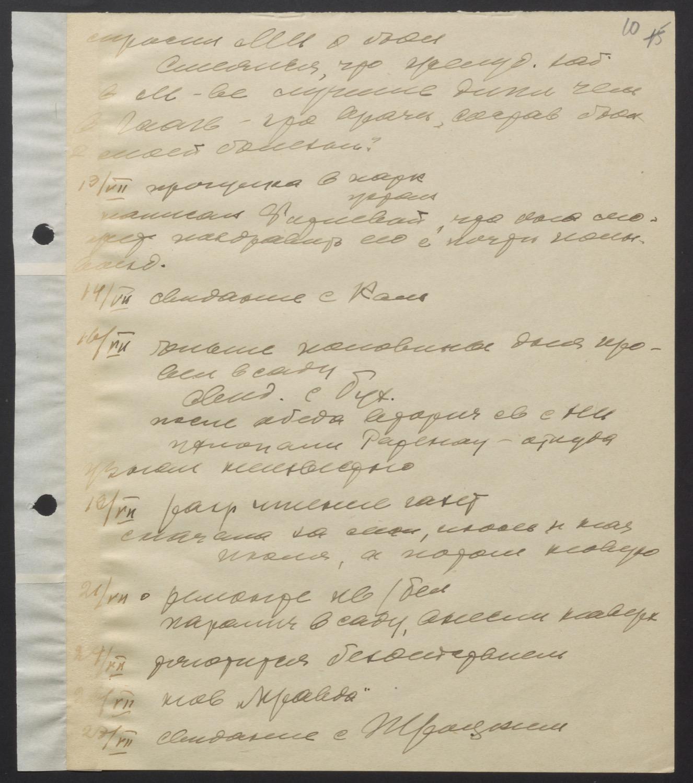 Из черновых записей М.И. Ульяновой к своим воспоминаниям о В.И. Ленине во время его болезни (1922-1923).