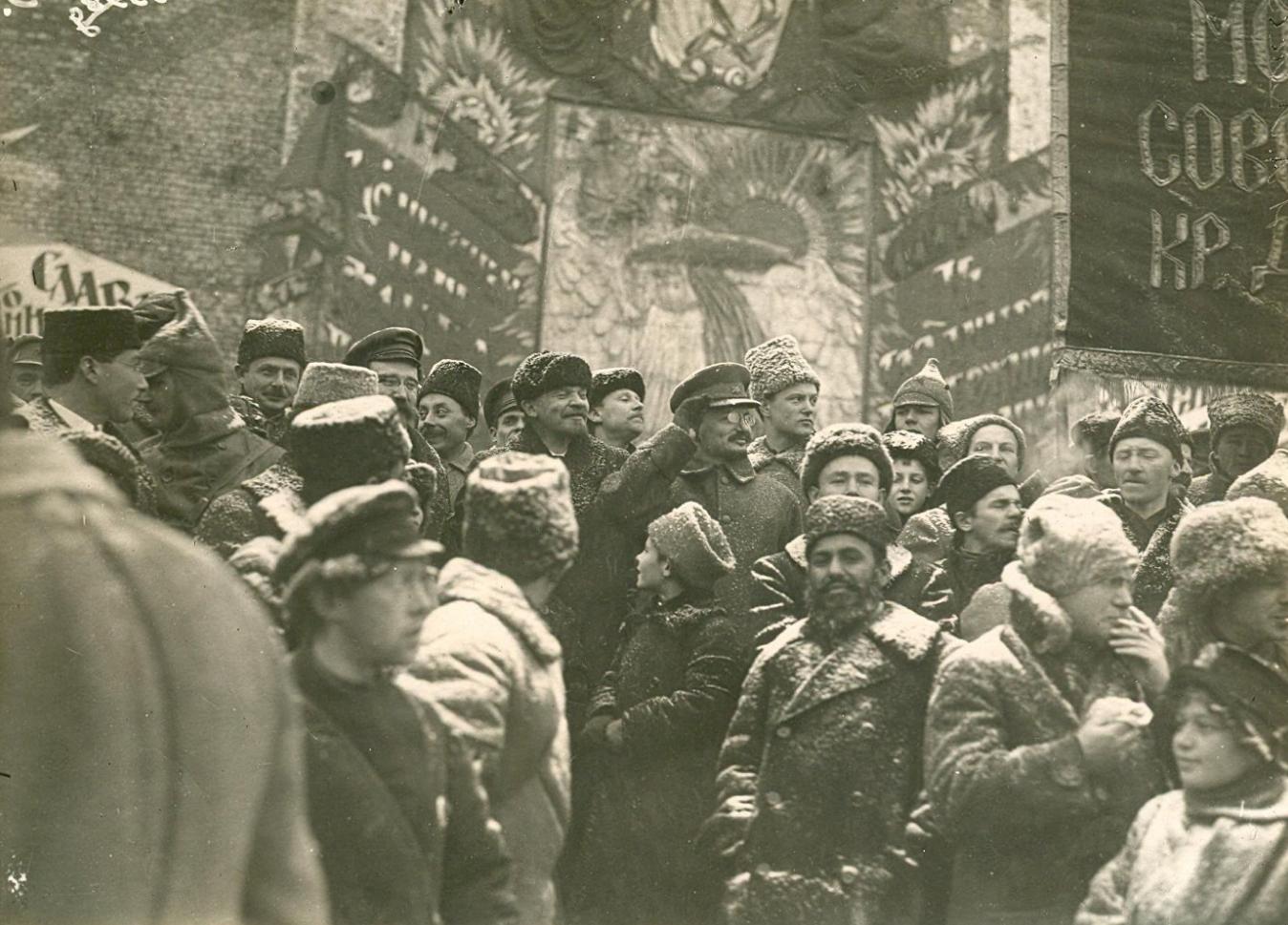 В.И. Ленин на Красной площади