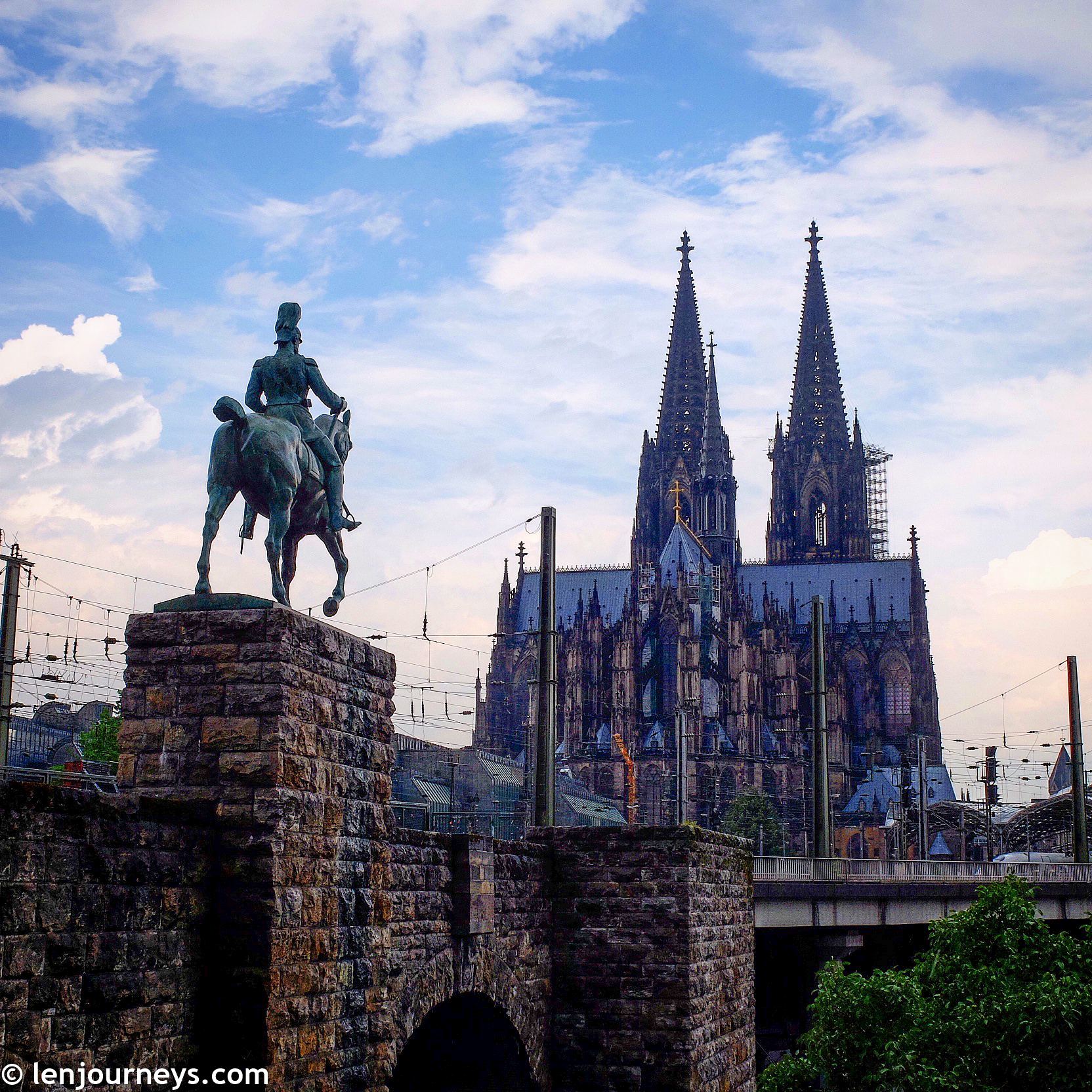 Cologne Cathedral with its twin spires