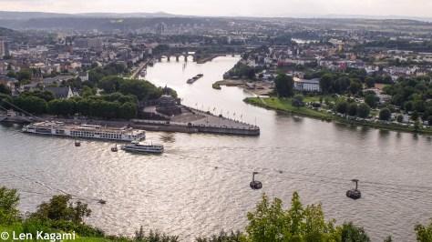 View of Koblenz from Ehrenbreitstein Fortress