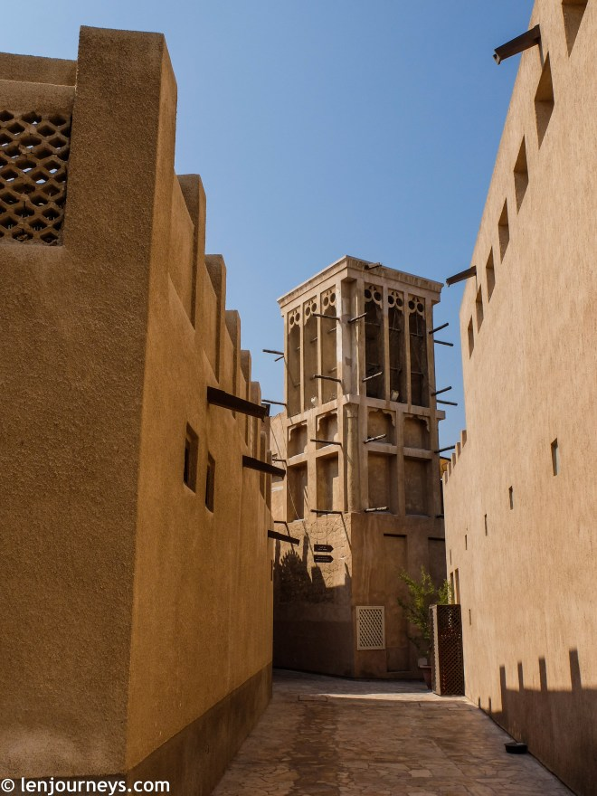 Wind towers and alleys in Al Fahidi