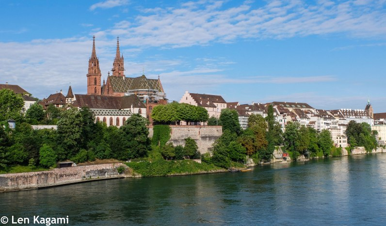 Basel Cathedral overlooking the Rhine