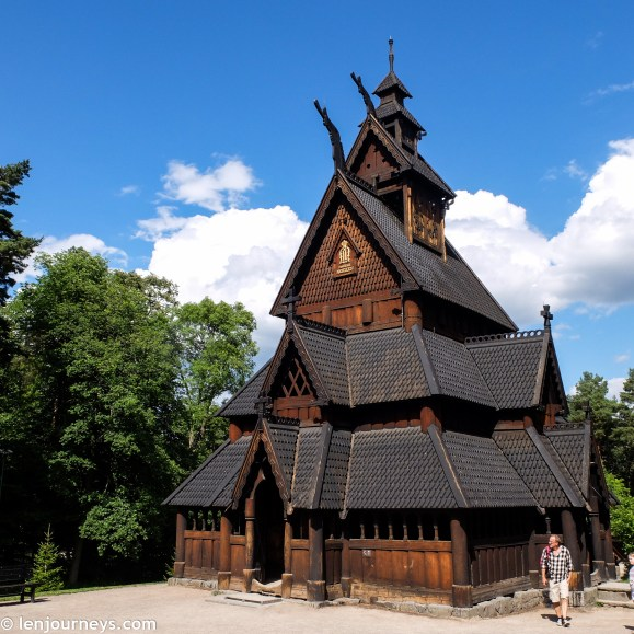 Stave church in Norwegian Folk Museum