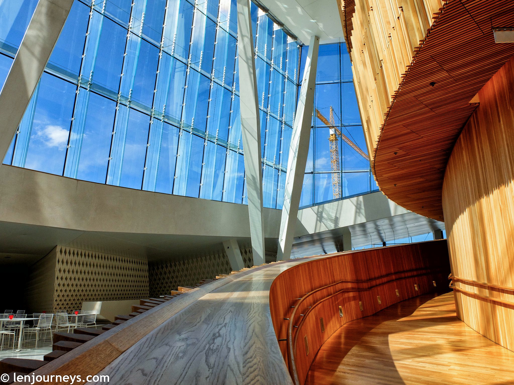 The interior of Oslo Opera House