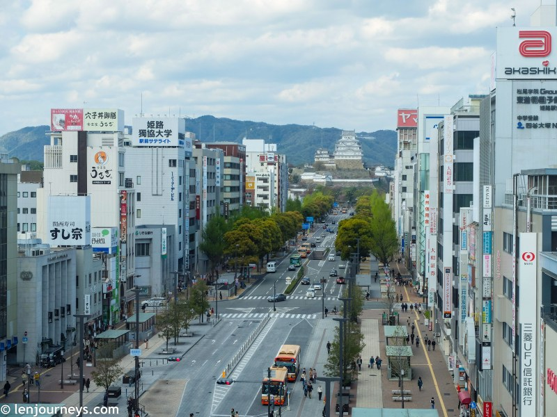 The road leading to Himeji Castle