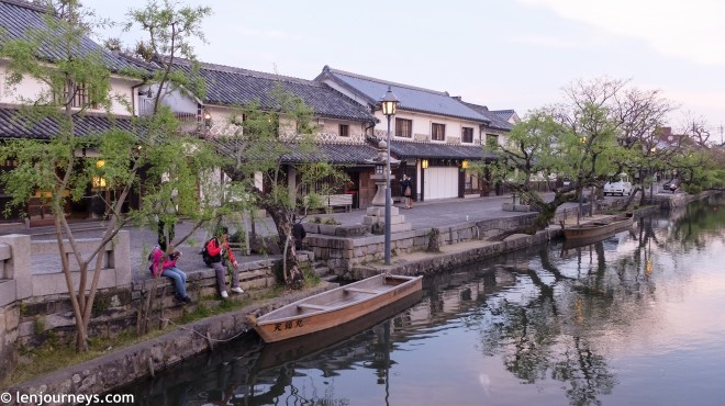 Kurashiki at sunset