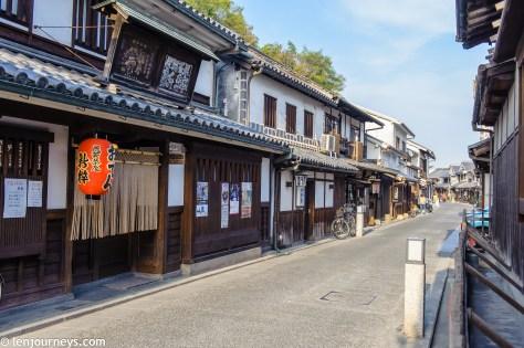 The Edo-style street in Kurashiki