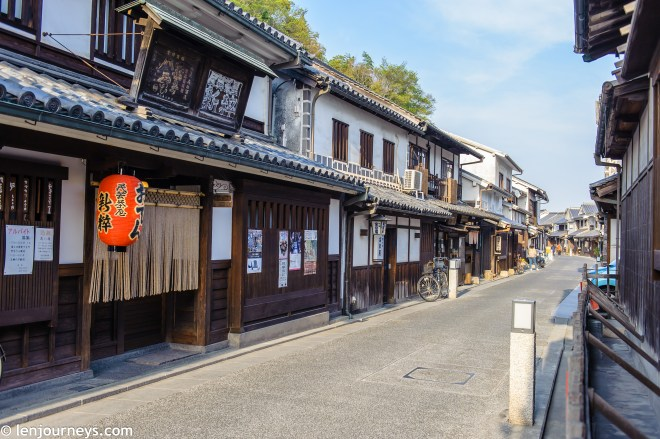 The Edo-style street in Kurashiki