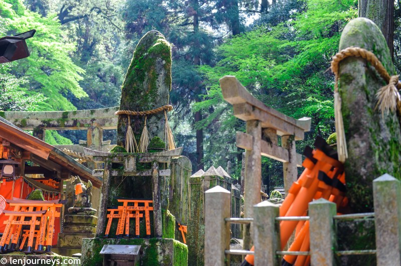 Inner Shrine & stacks of miniature torii gates