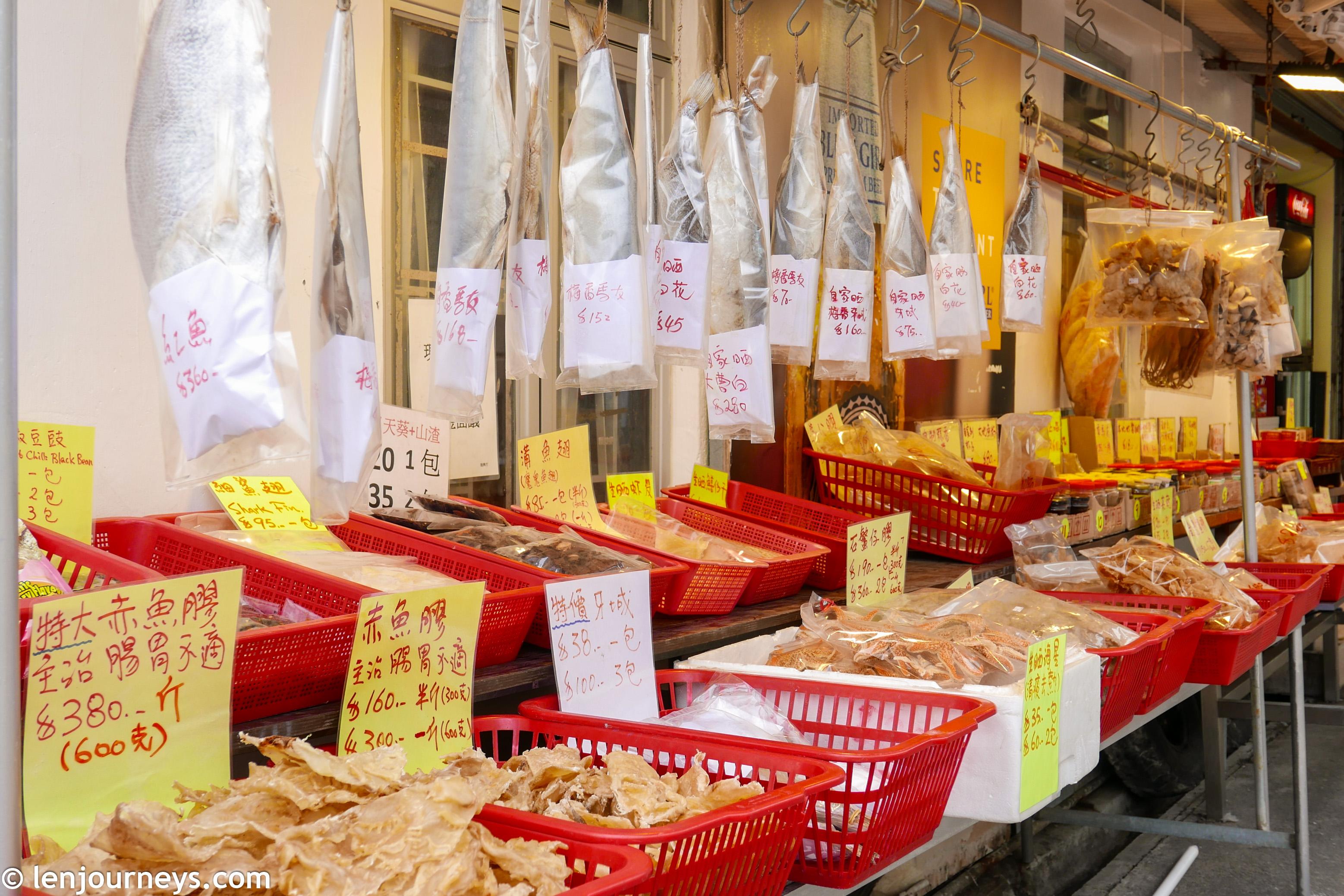 Dried seafood in Tai O, Lantau