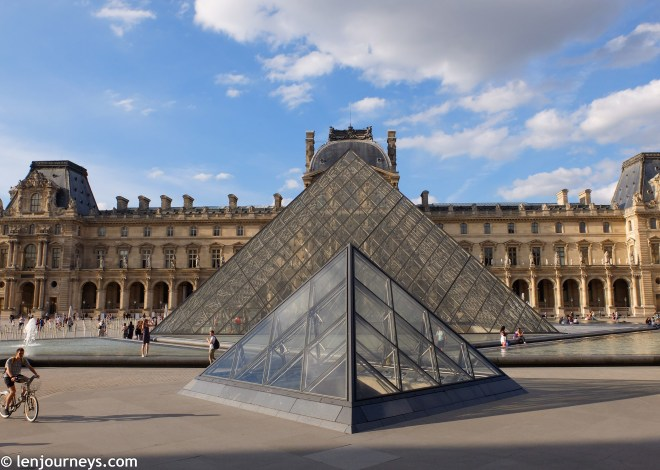 The glass pyramid - Louvre's most iconic add-on