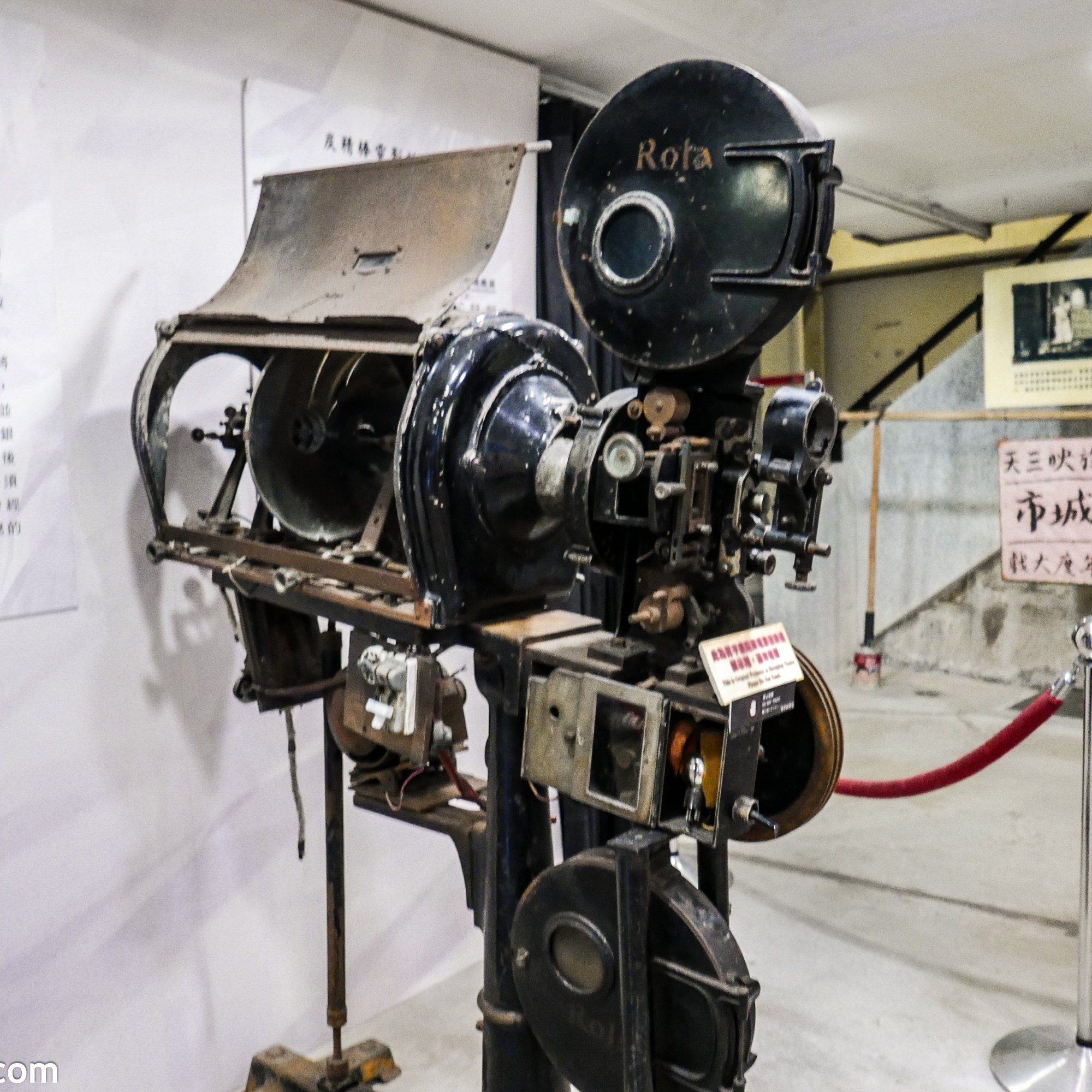 The film projector used in Jiufen cinema