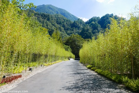 The entry to Hoshinoya Guguan