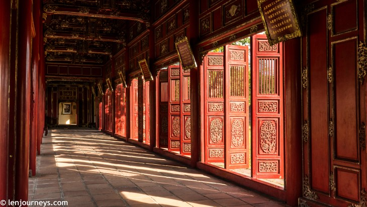 The restored hallway in Purple Forbidden City