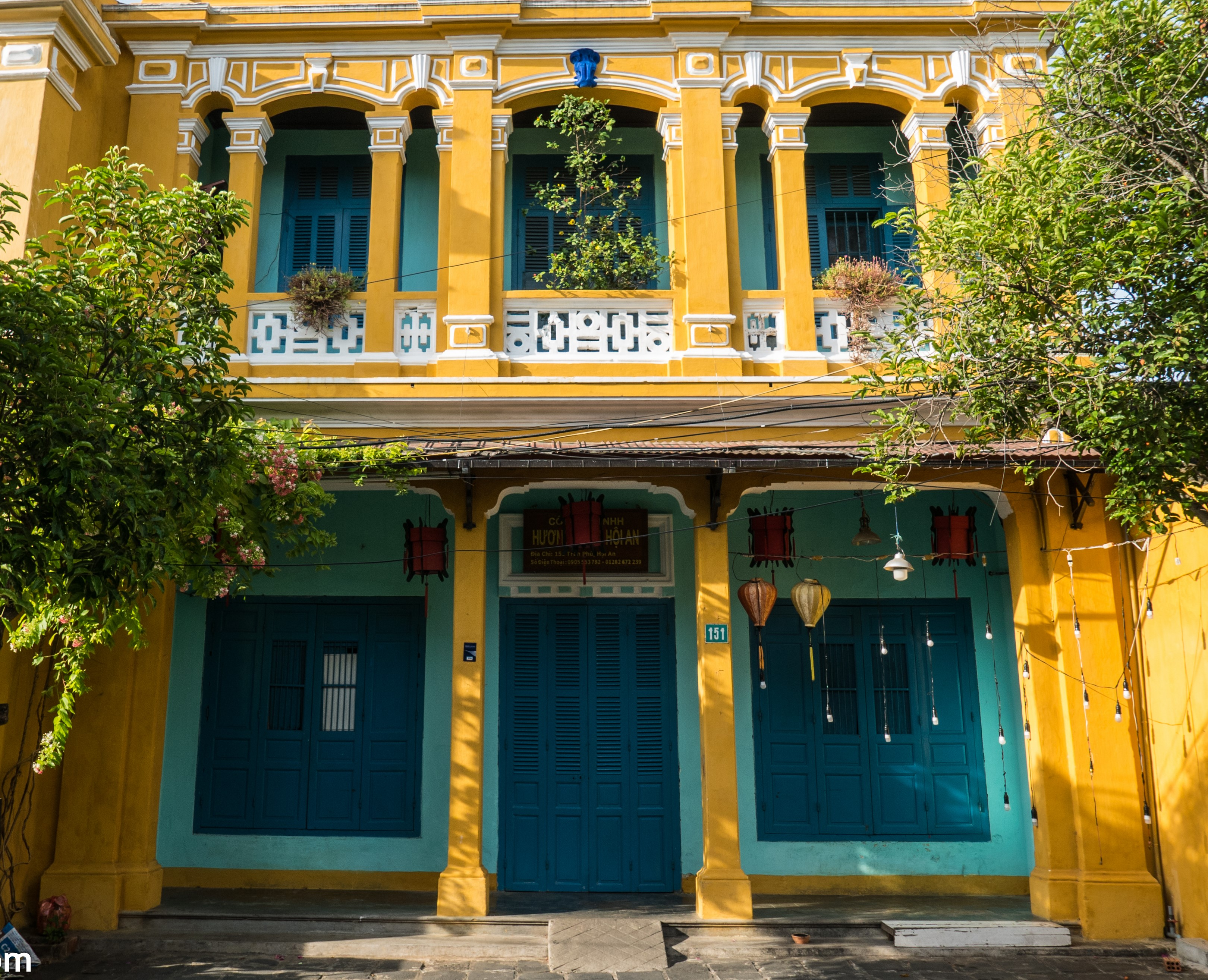 French style architecture in Hoi An
