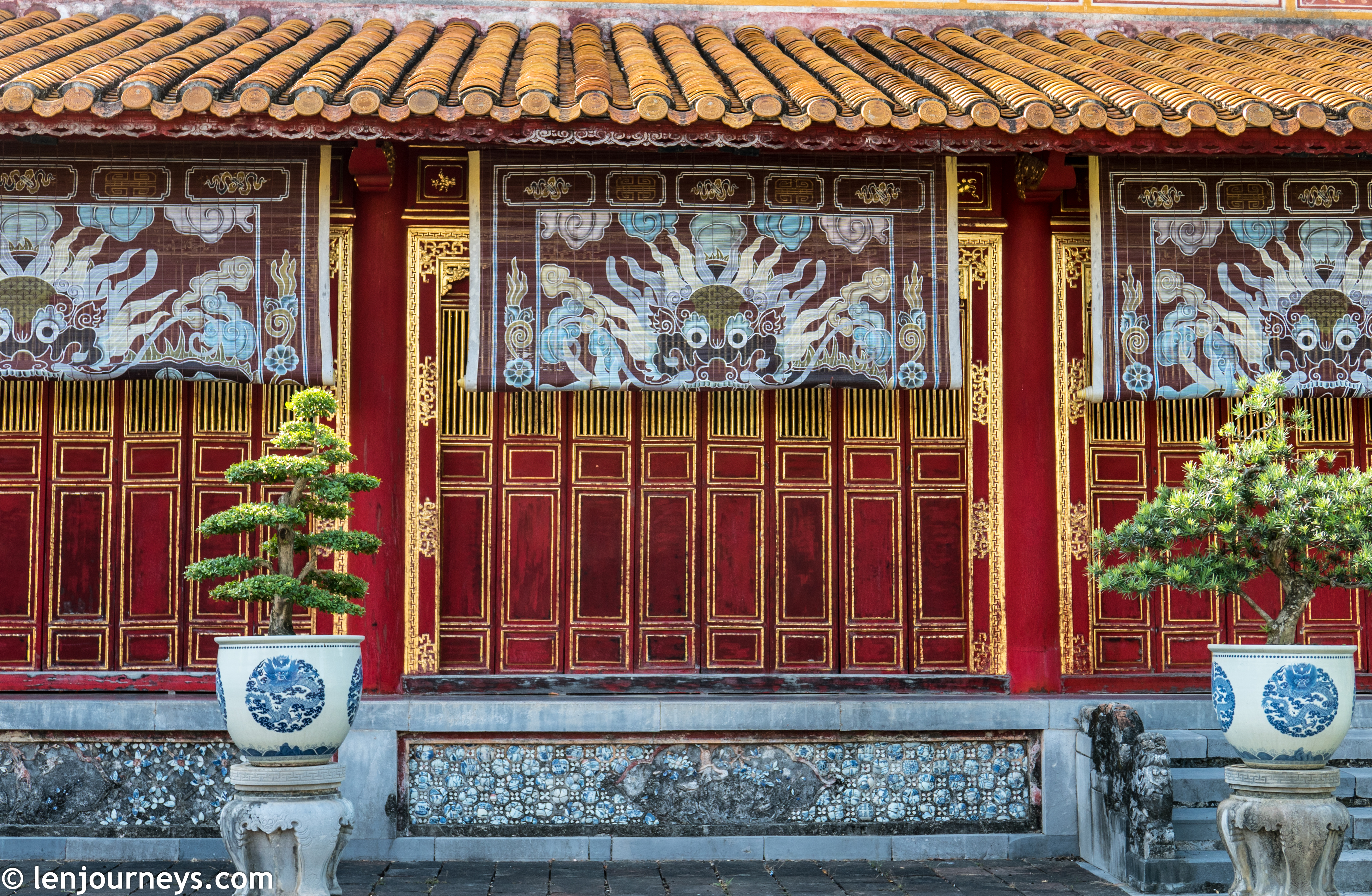 Dragon motif in Hue Imperial City