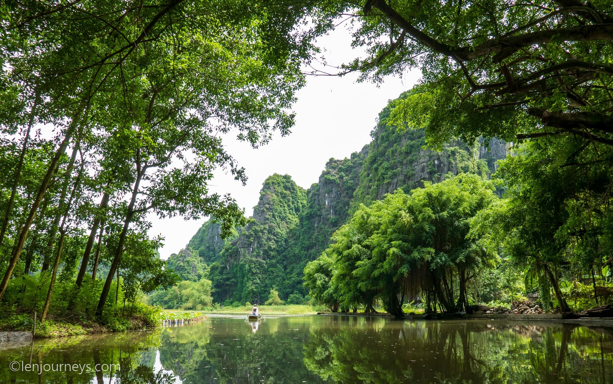 Dreamlike landscape at Tam Coc, Ninh Binh