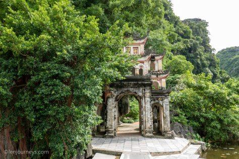 The entrance to Bich Dong Pagoda, Ninh Binh