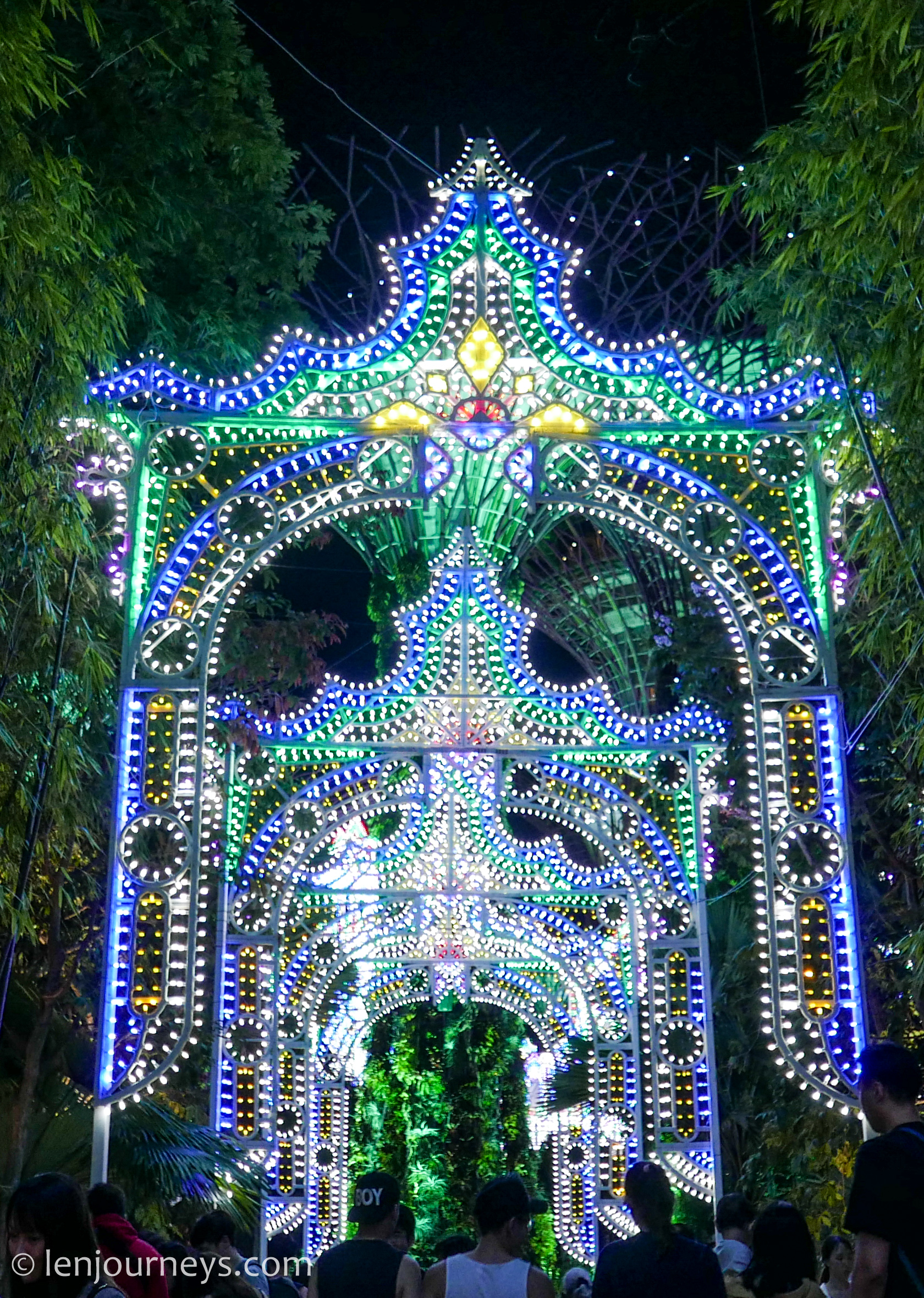 Light installations at Christmas Wonderland