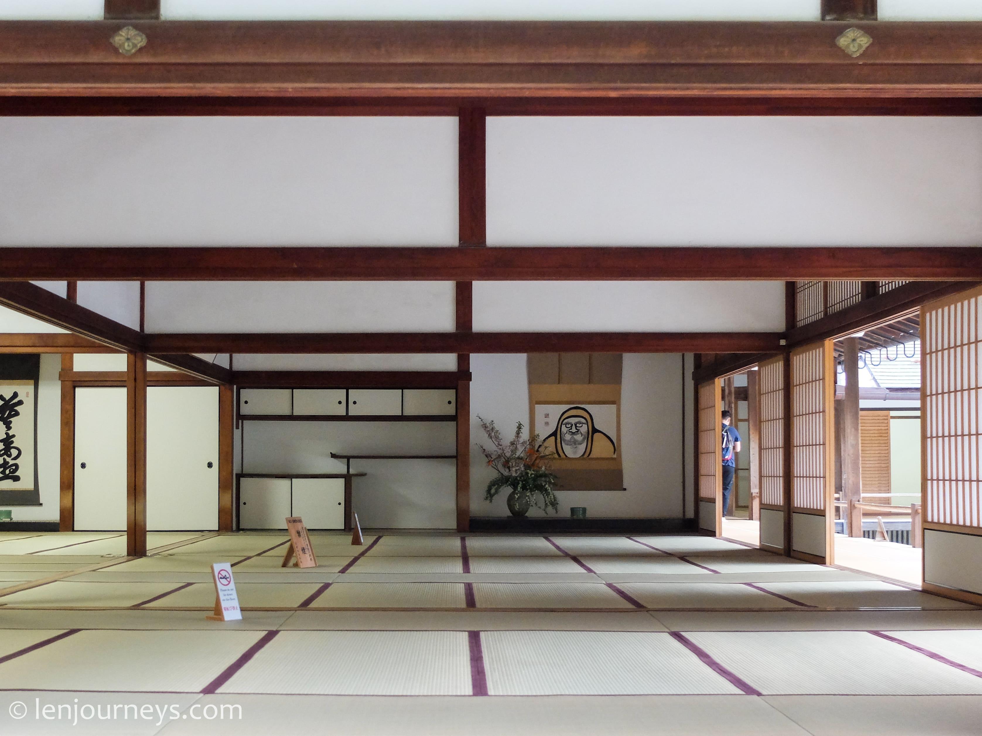 Spacious room at Tenryuji