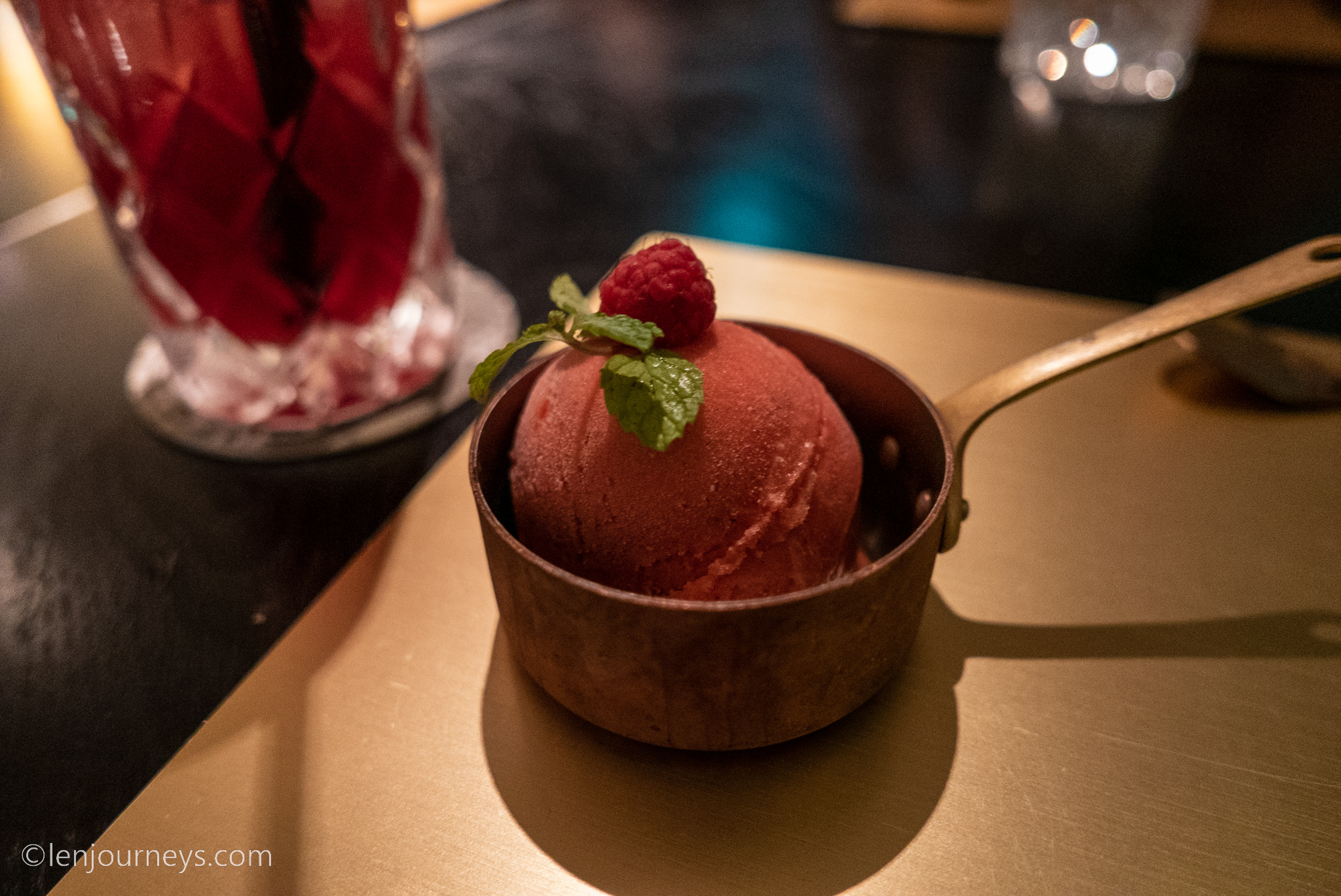 Ice cream and cocktail at angelina