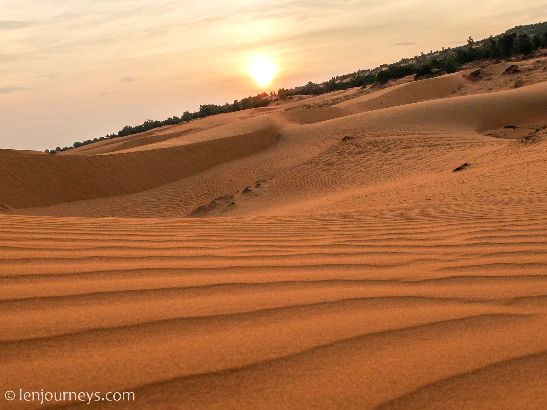 Red Sand Dune at sunset