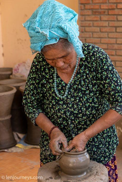 A Cham artisan at Bau Truc Village