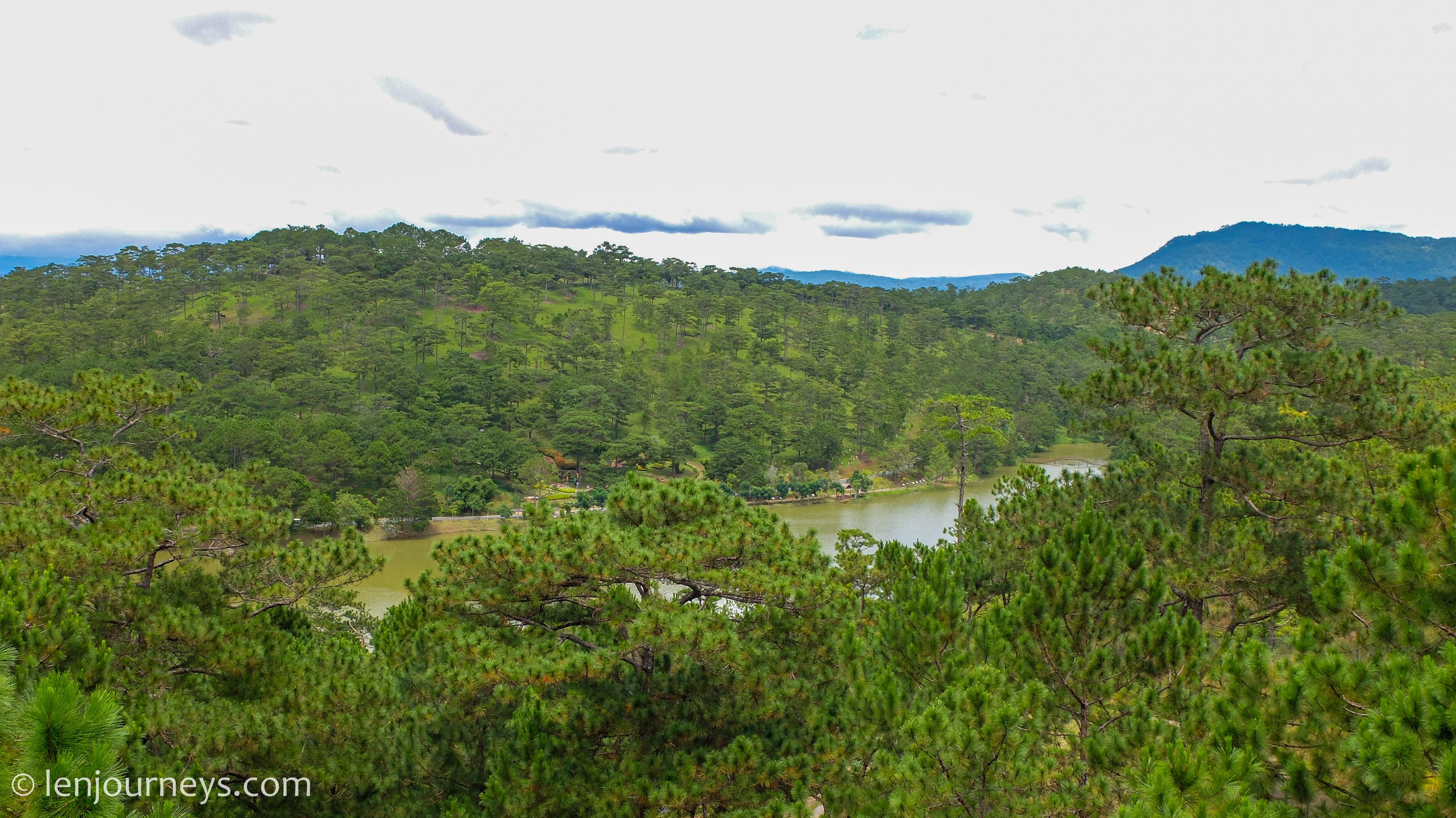 Pine-covered hills in Da Lat