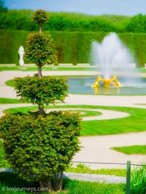 A corner in the Garden of Versailles