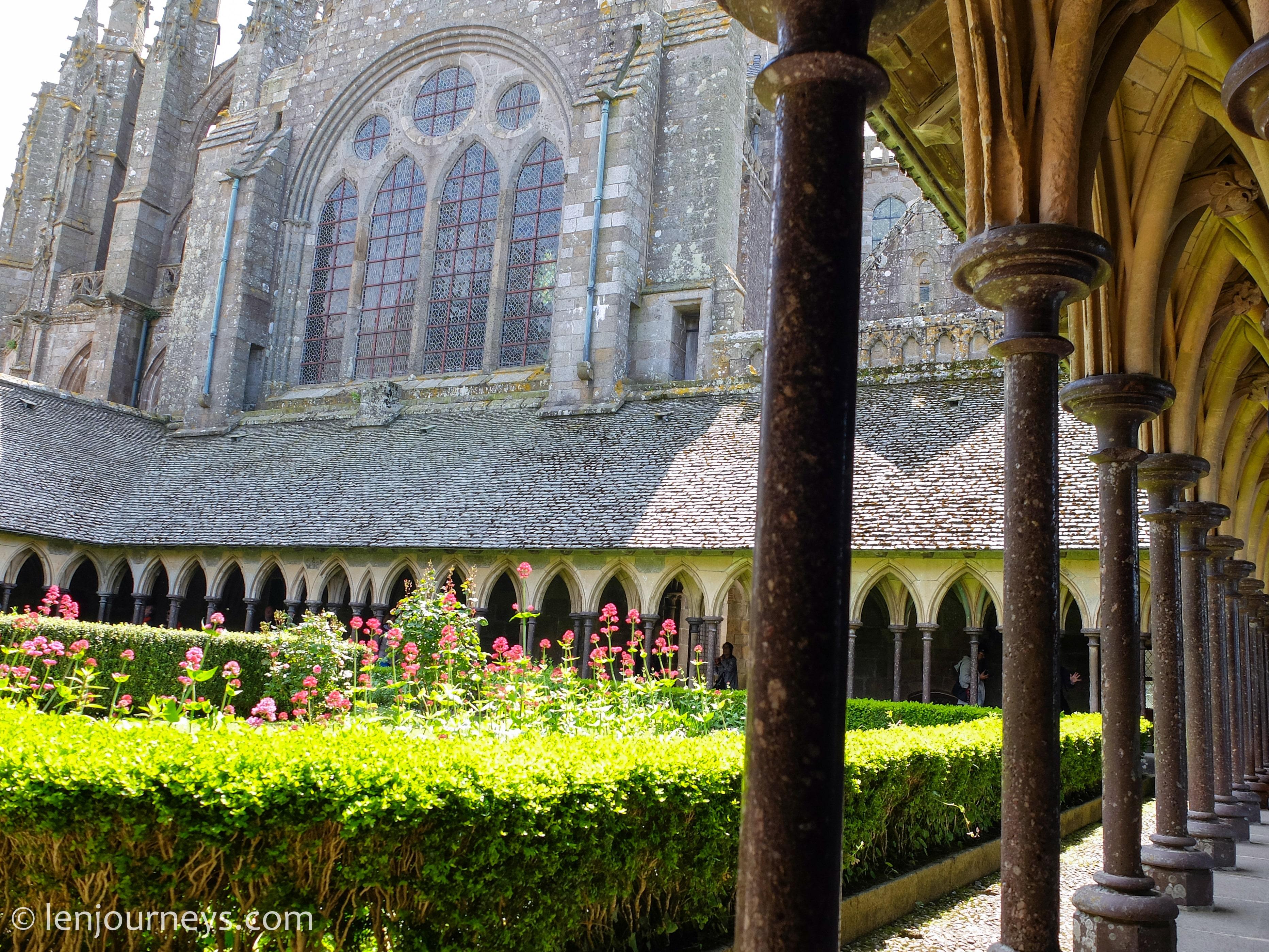 Garden inside the Abbey