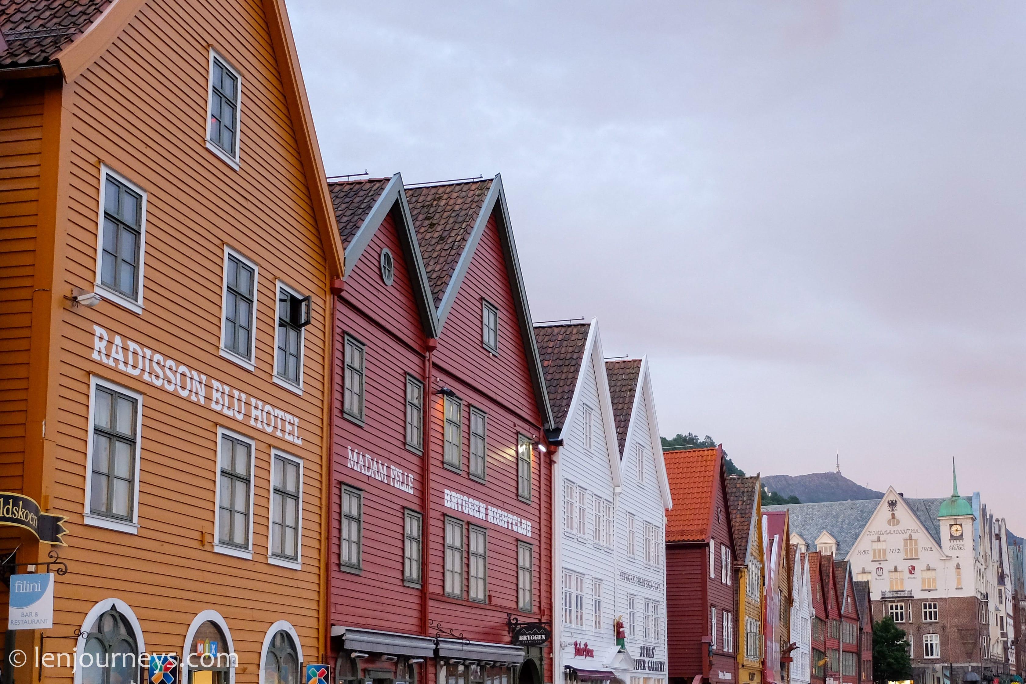 Wooden houses in Bryggen