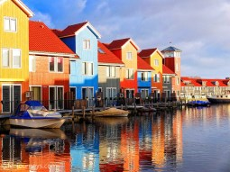 Colourful houses in Reitdiephaven