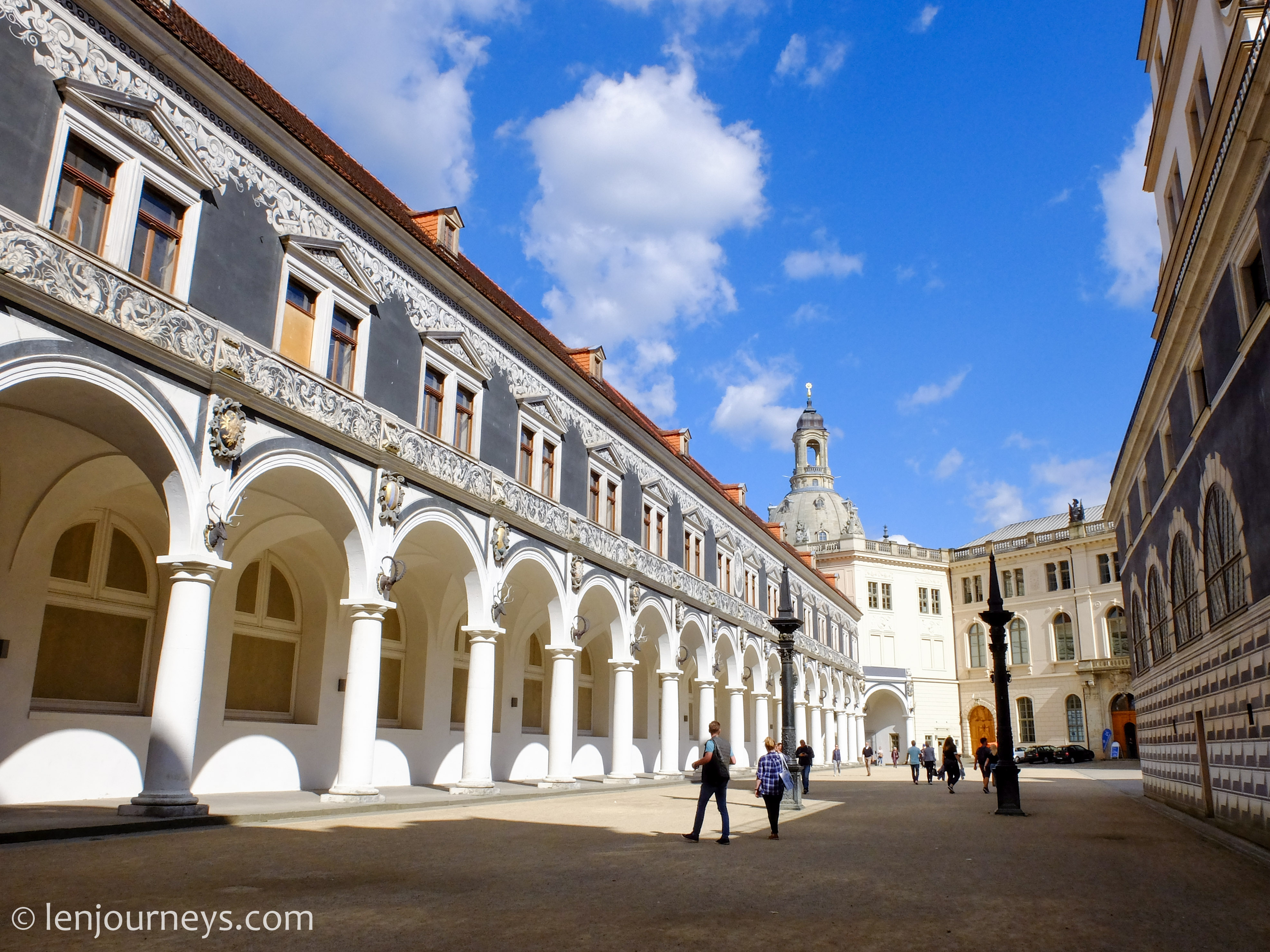 Palace courtyard, Dresden