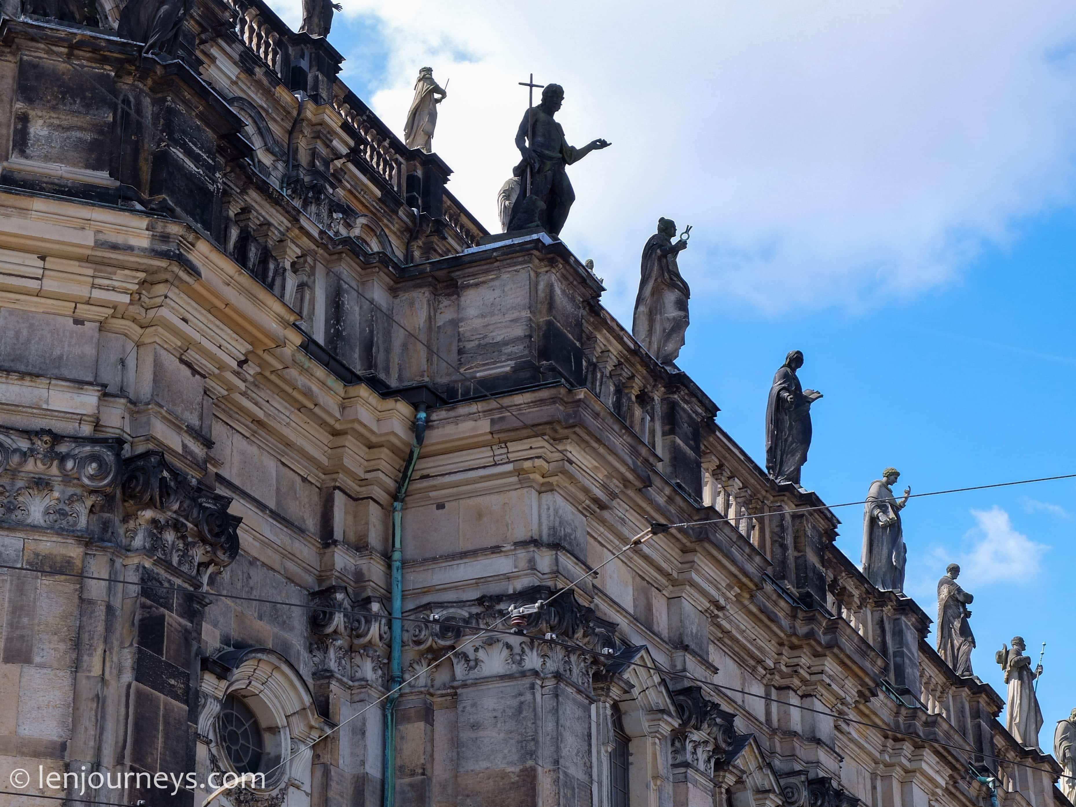 Baroque statues in Dresden
