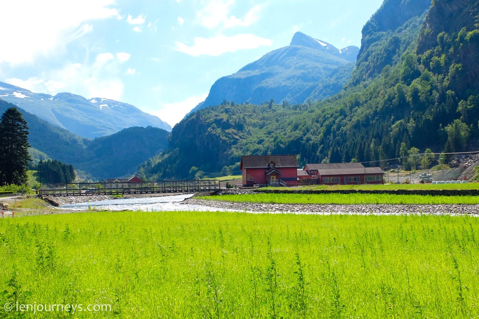 The village of Flåm