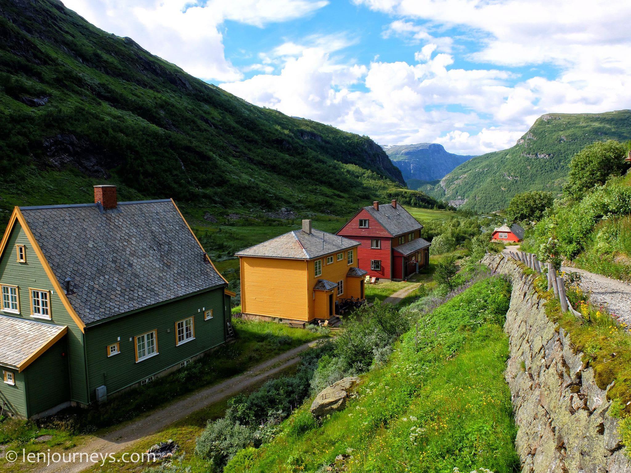 Houses in Myrdal, Norway