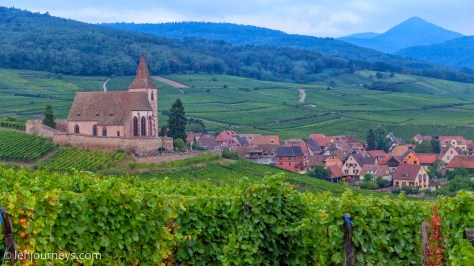 The town of Hunawihr, Alsace