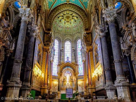 Inside the Basilique Notre-Dame de Fourvière