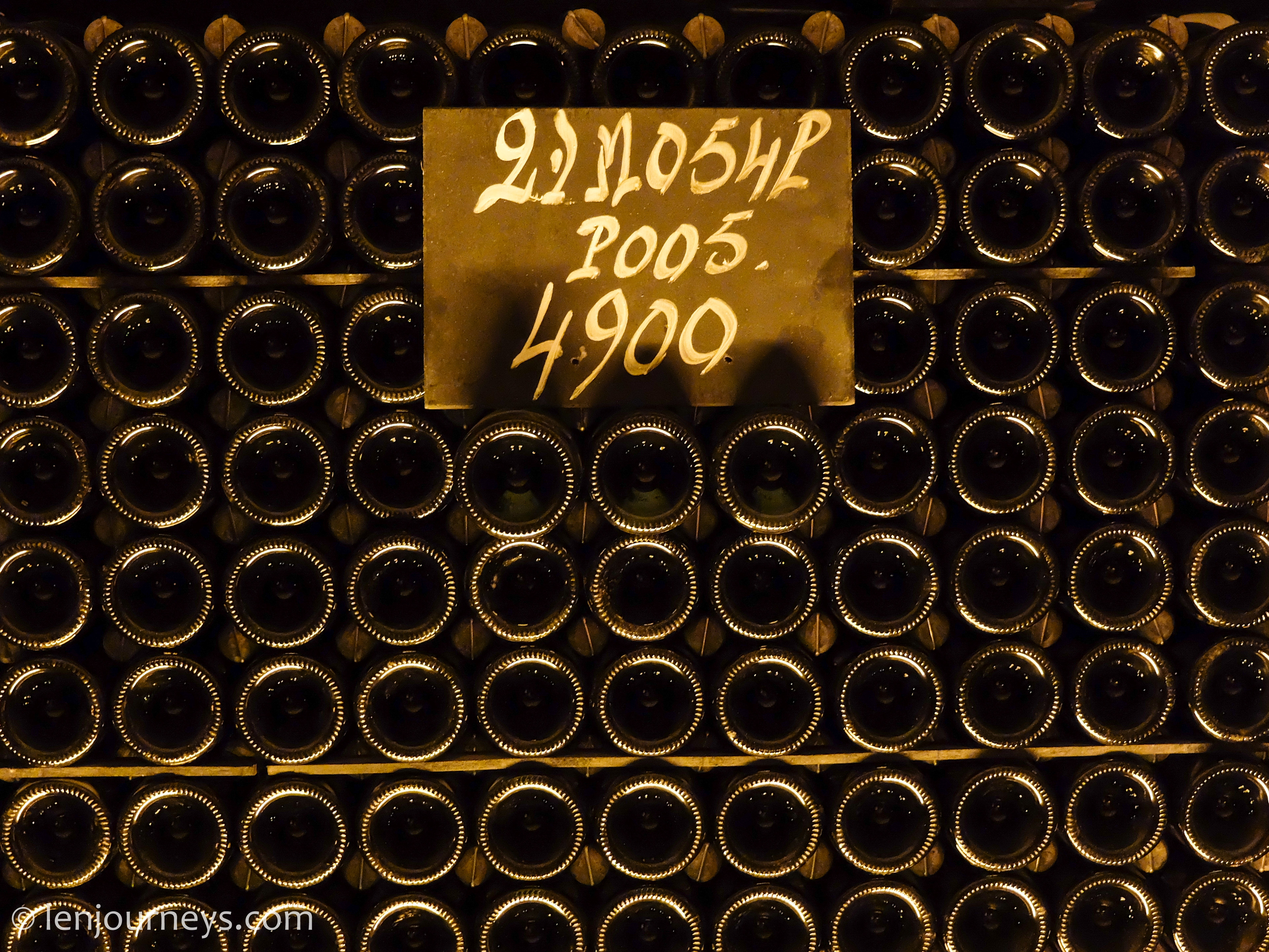 Champagne bottles in Moët and Chandon Cellar