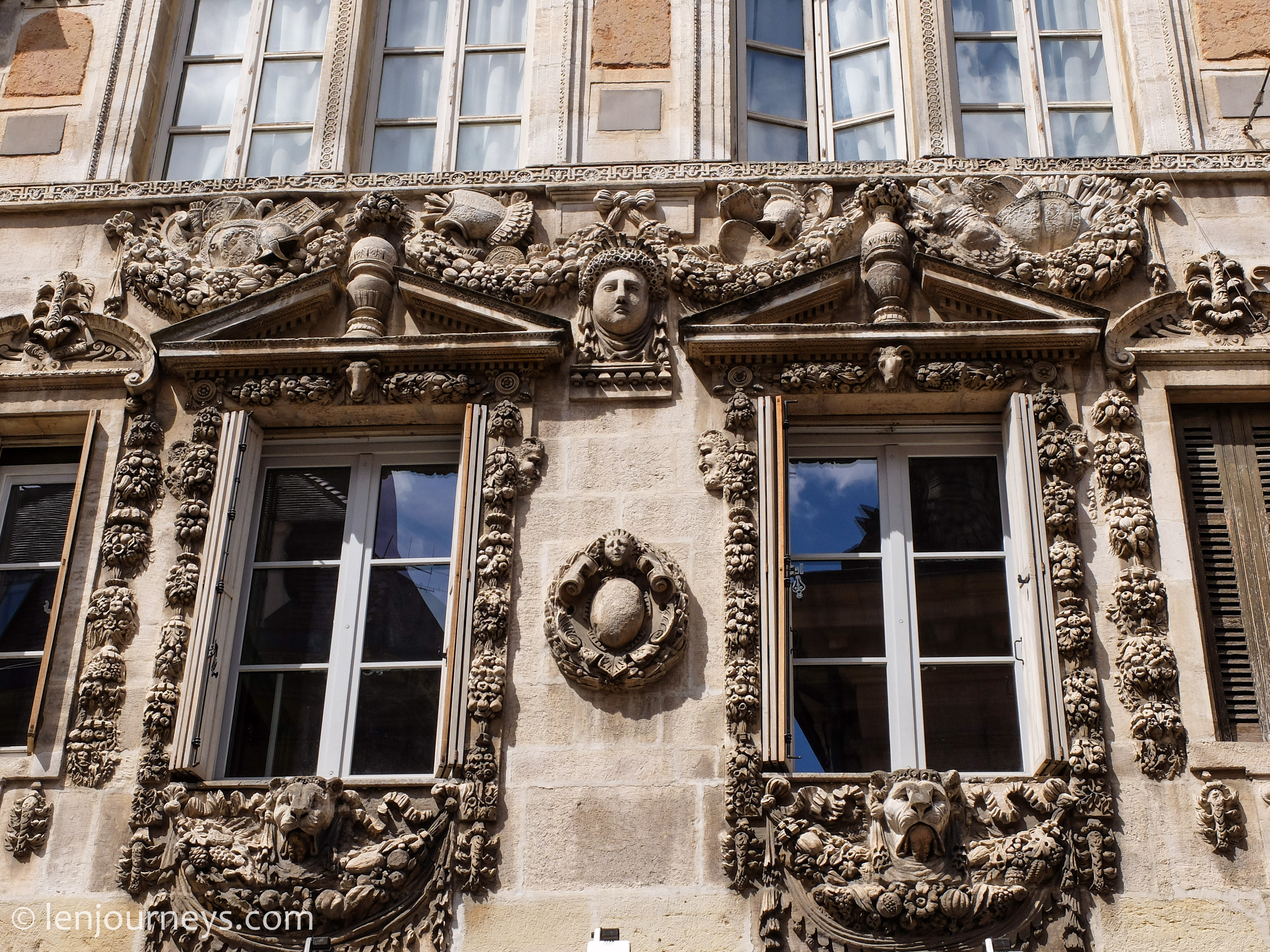 Stucco in Dijon, Burgundy