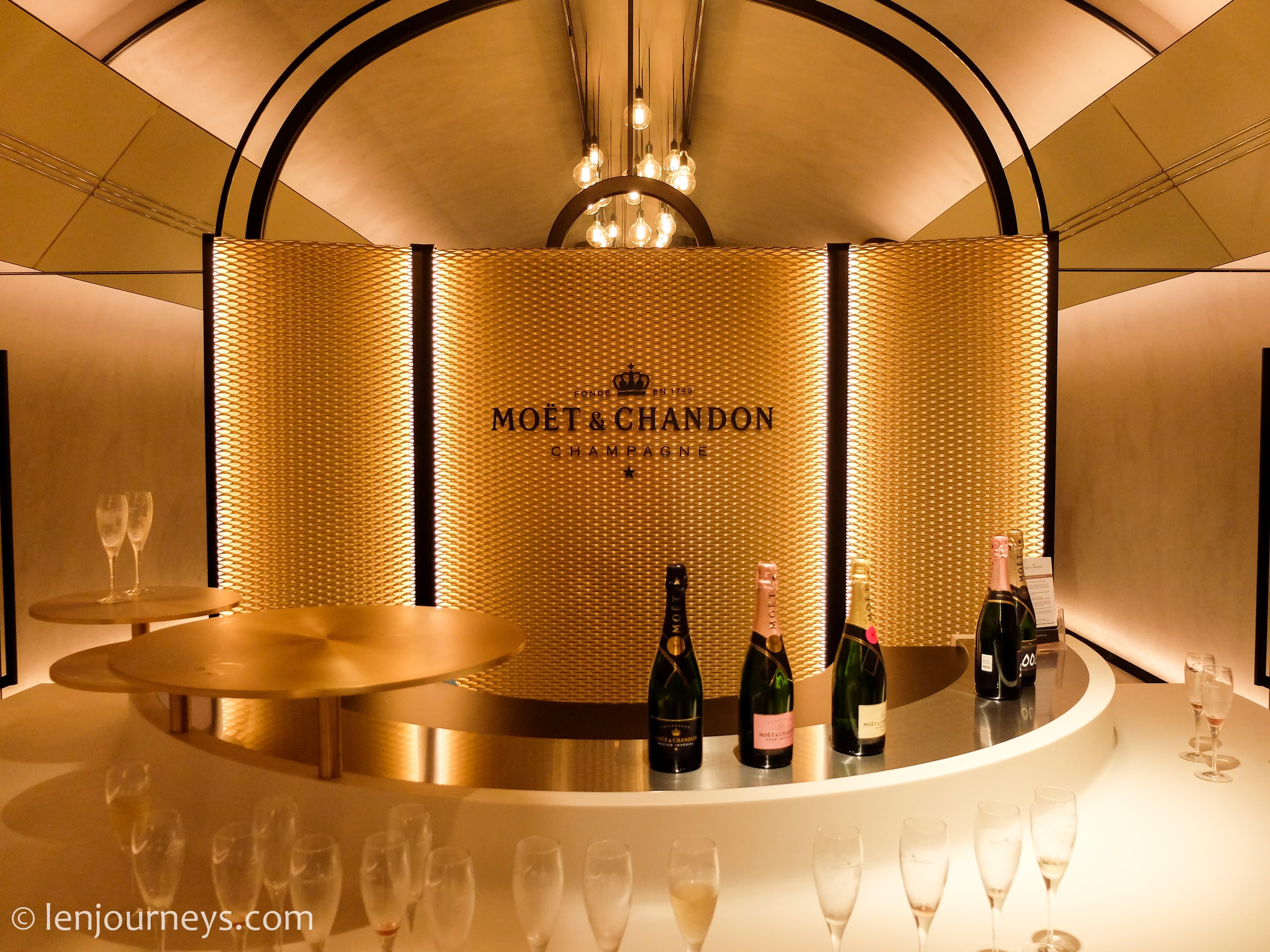 Tasting room in Moët and Chandon Mansion