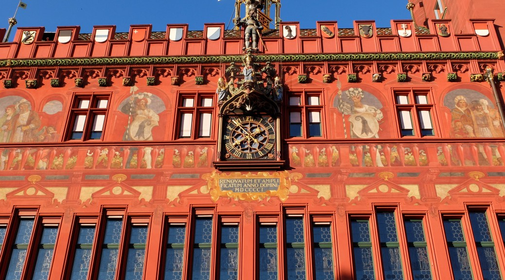 Decorations on the city hall's exterior