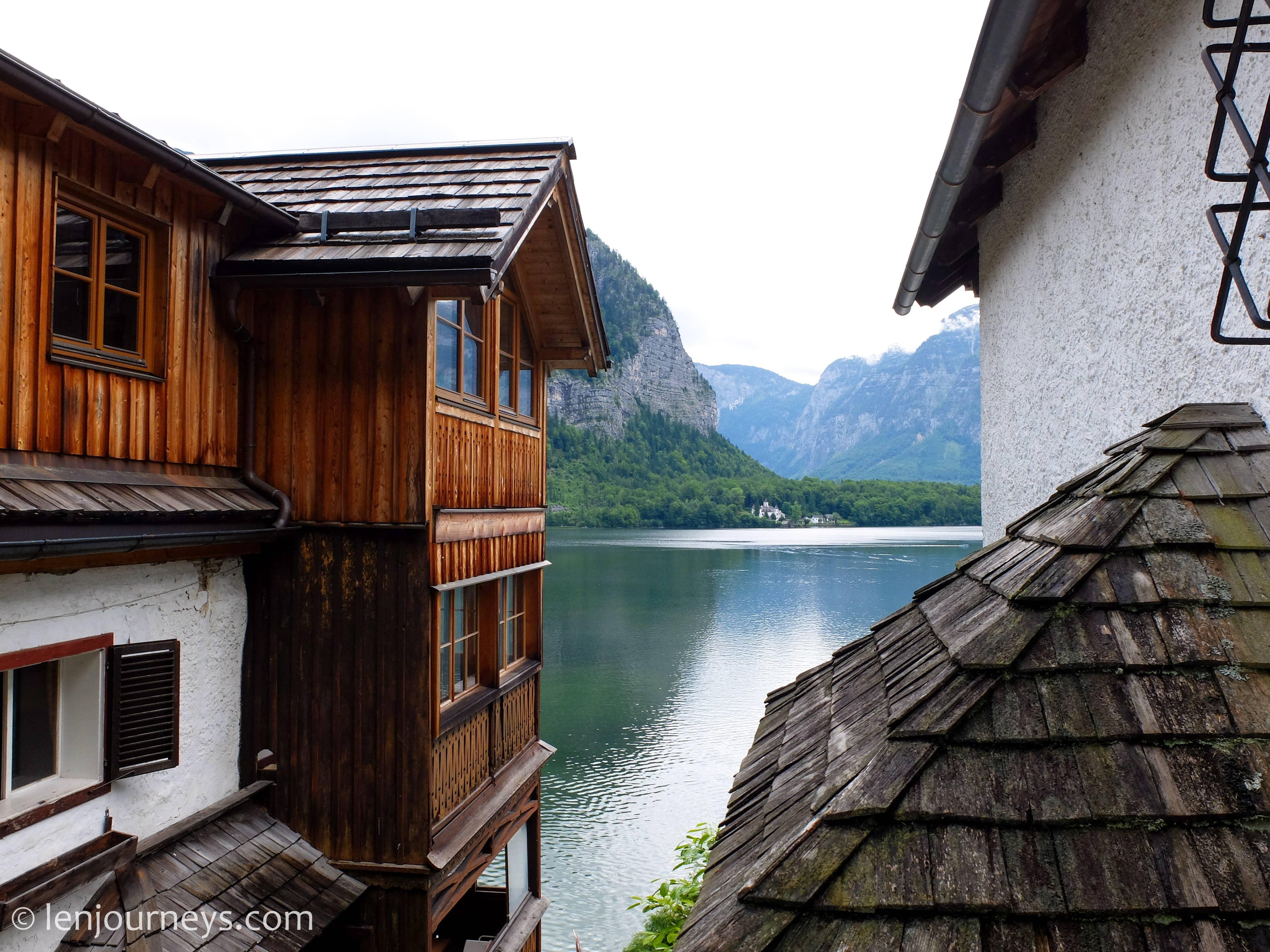 A lakeside house