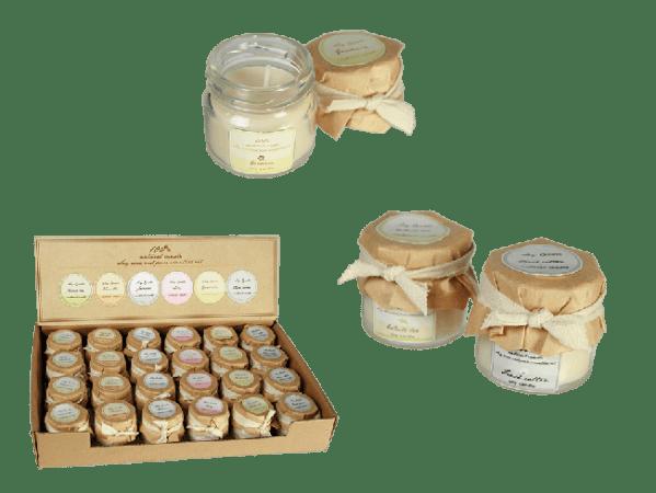 vonné svíčky s přírodním voskem
