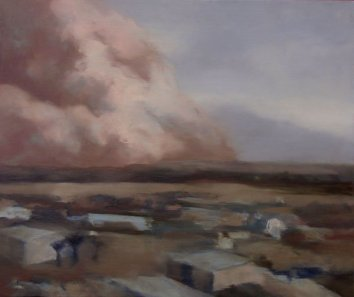 Sand Approaching - Al Asad Base 1, 2006