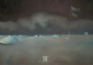 "Sand Cloud - Army Installation 2, 2006, 16""x20"", oil on canvas"